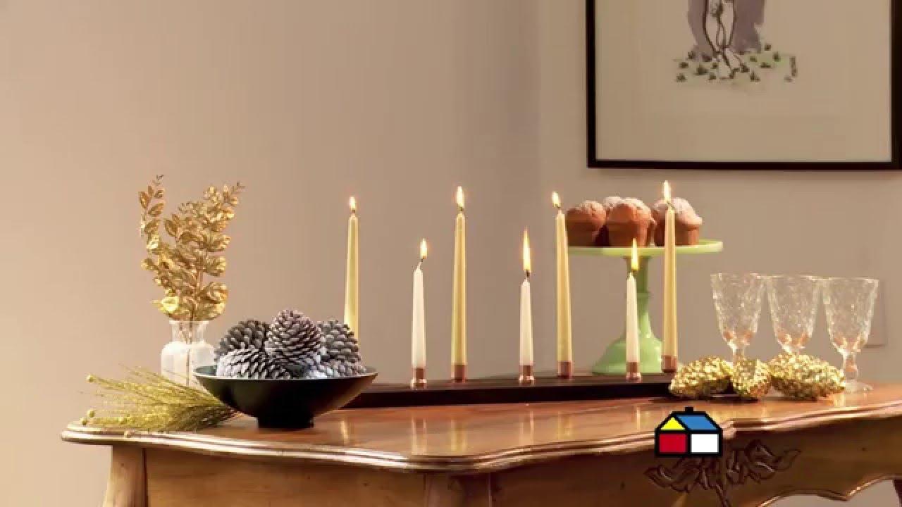 C mo hacer un candelabro para la mesa navide a youtube - Como hacer candelabros ...