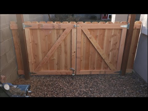 How to build a wooden gate! DIY