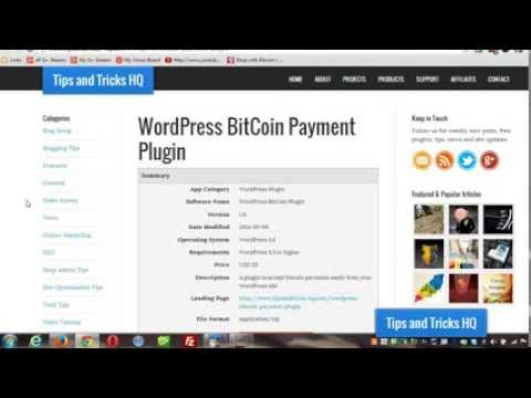 WordPress Bitcoin Plugin Usage