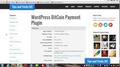 WordPress Bitcoin Plugin Usage