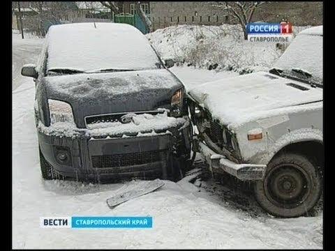 Дороги Ставрополья испытывает непогода