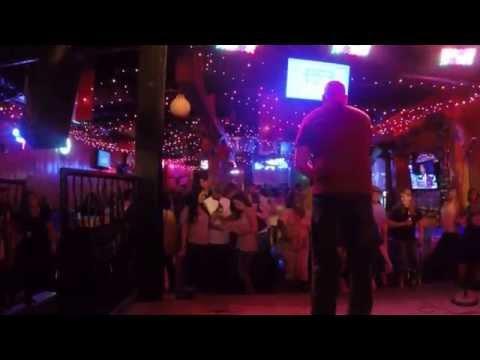 Teddy sings Hurts So Good at WannaB's Karaoke Nashville