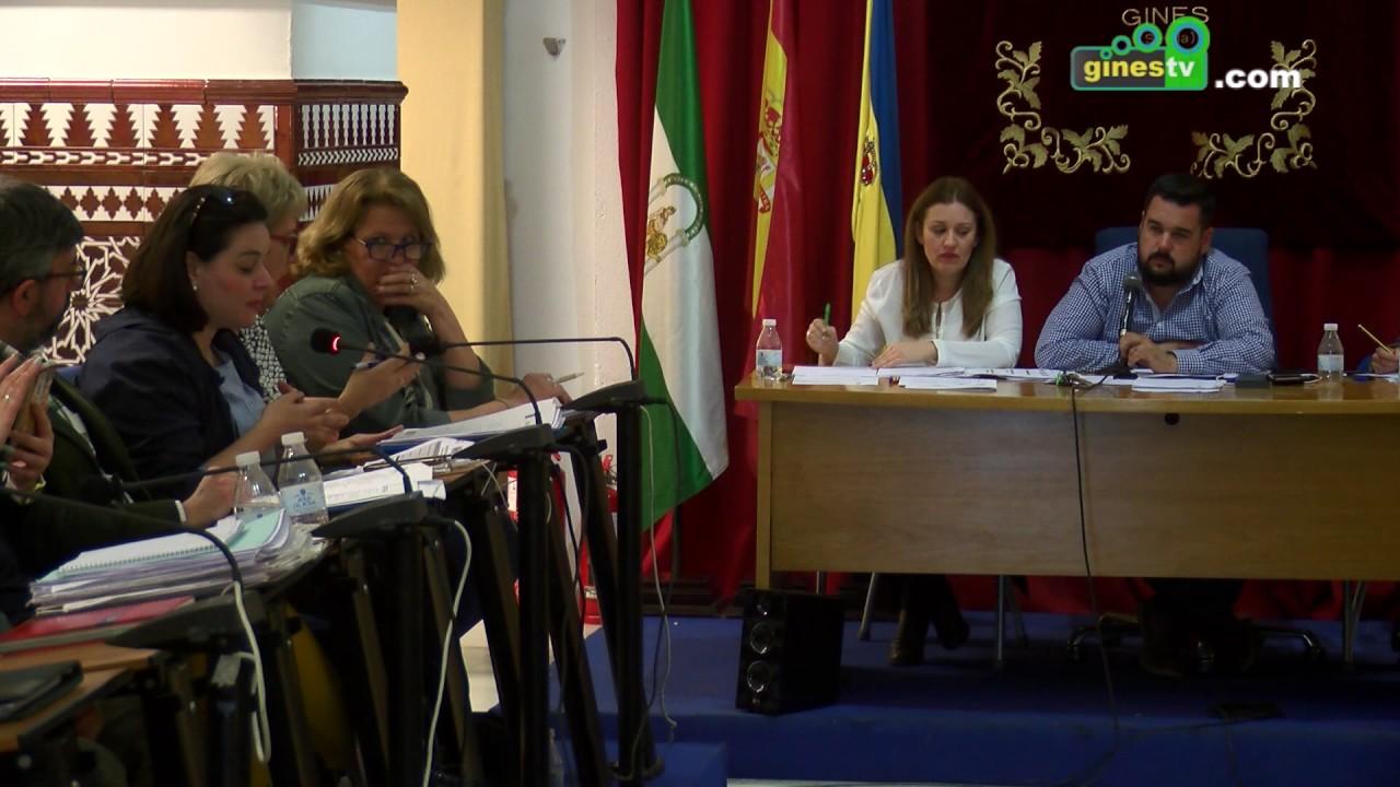 Pleno Ordinario del Ayuntamiento de Gines 4 de abril de 2017