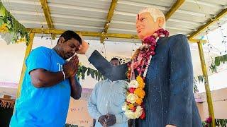 """شاهد: الصلاة على """"تمثال ترامب"""" في الهند"""