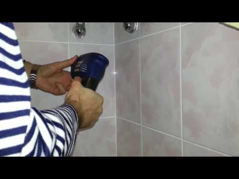 Как повесить полку в ванной на плитку видео