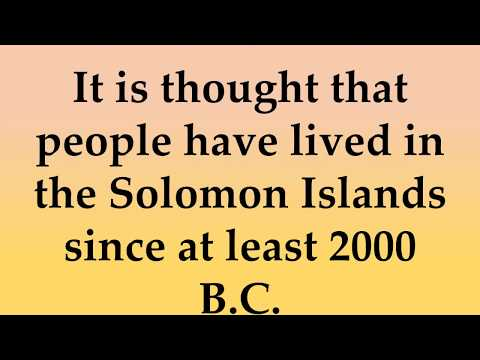 Historical and Cultural Facts about Solomon Islands