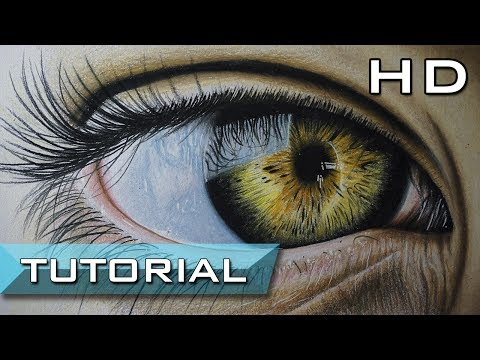 How to Draw a Realistic Eye with Colored Pencils Step by Step Easy - Learn To Draw a Realistic Eye