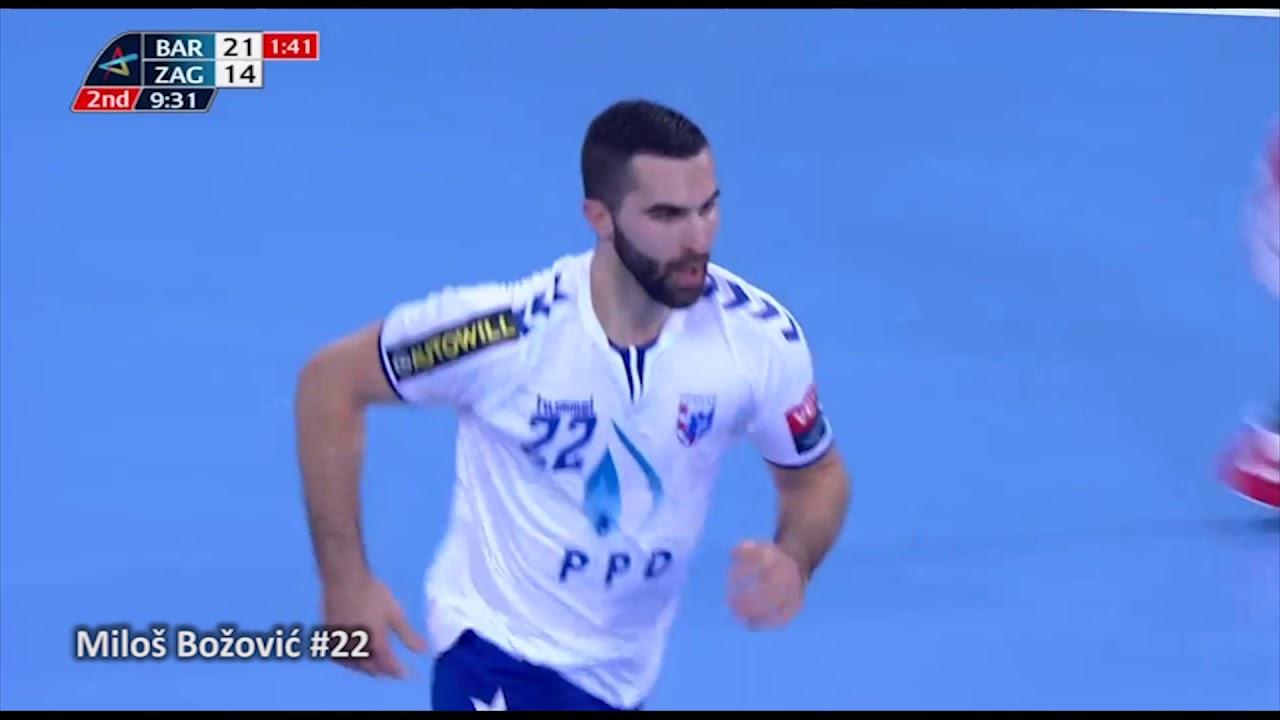 Milos Bozovic 22 Highlights Rk Ppd Zagreb Vs Paris Barca Flensburg Youtube