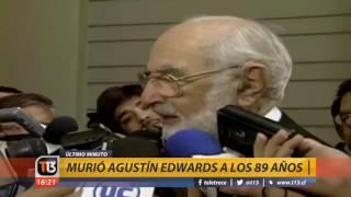 Canal 13 - EXTRA - Murió Agustín Edwards