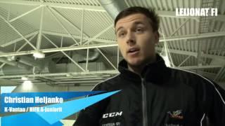 Maalivahti Christian Heljanko etenee porras kerrallaan kohti Liigaa