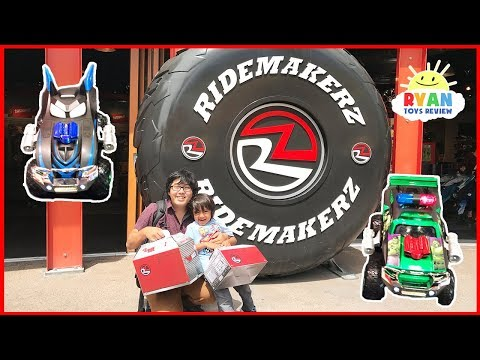 KIDS TOY CAR Ridemakerz Customized Batmobile Spiderman Hulk Disney Cars with Ryan ToysReview
