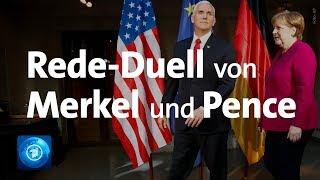 Merkel und Pence im Rede-Duell auf der Münchner Sicherheitsko…