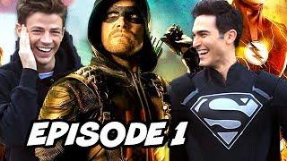 Arrow Season 7 Episode 1 - The Flash Superman Black Suit Teaser