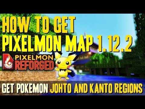 How to get Pixelmon Map 1.12.2 - download and install Pokémon Johto and Kanto regions (1.12.2 map)