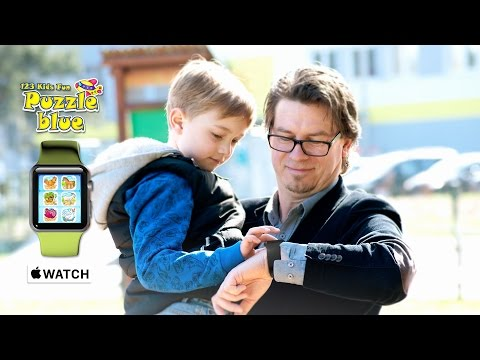123 Kids Fun Puzzle Blue - Apple Watch Free App
