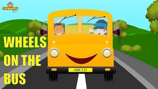 The Wheels On The Bus | English Nursery Rhymes For Kids & Children's | CHAMPU TV