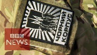Ukraine's most-feared volunteers - BBC News