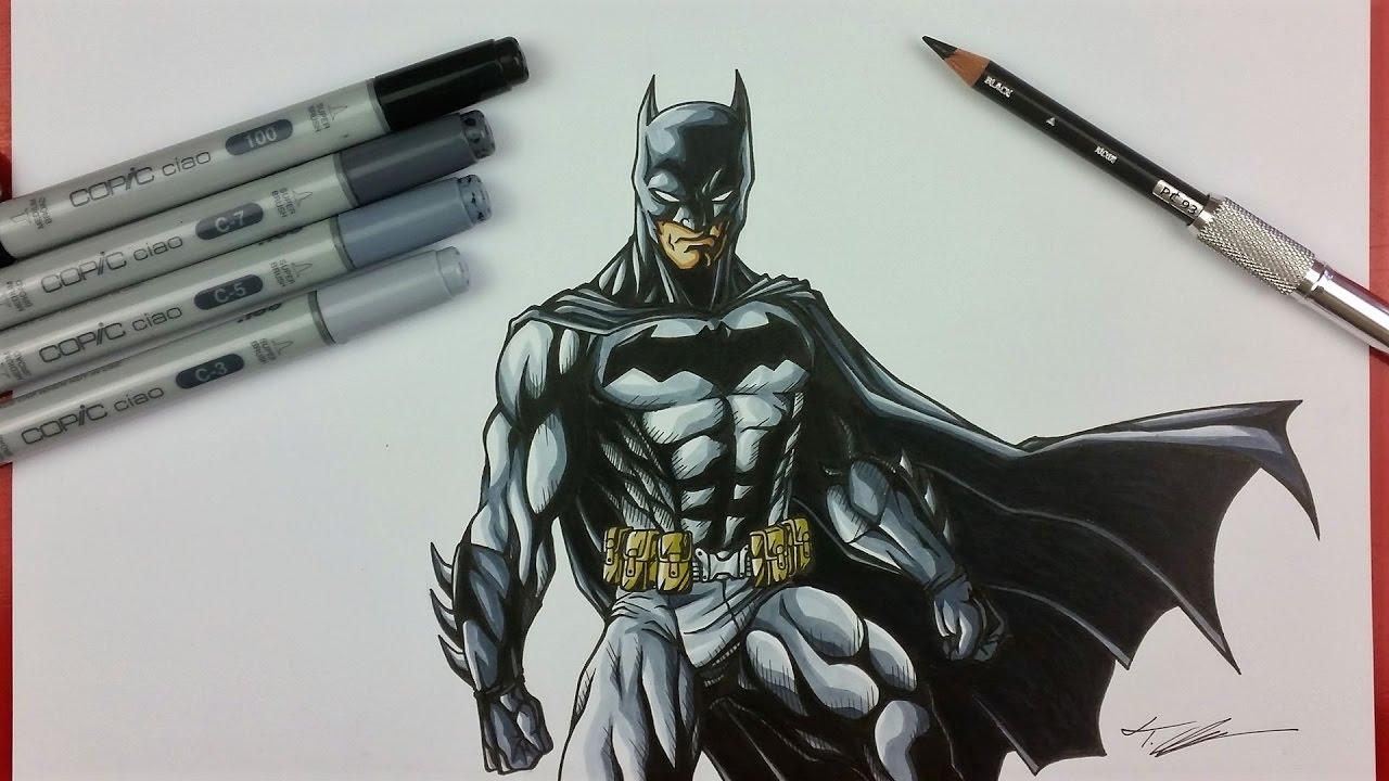drawing batman dc comics tolgart tolg art
