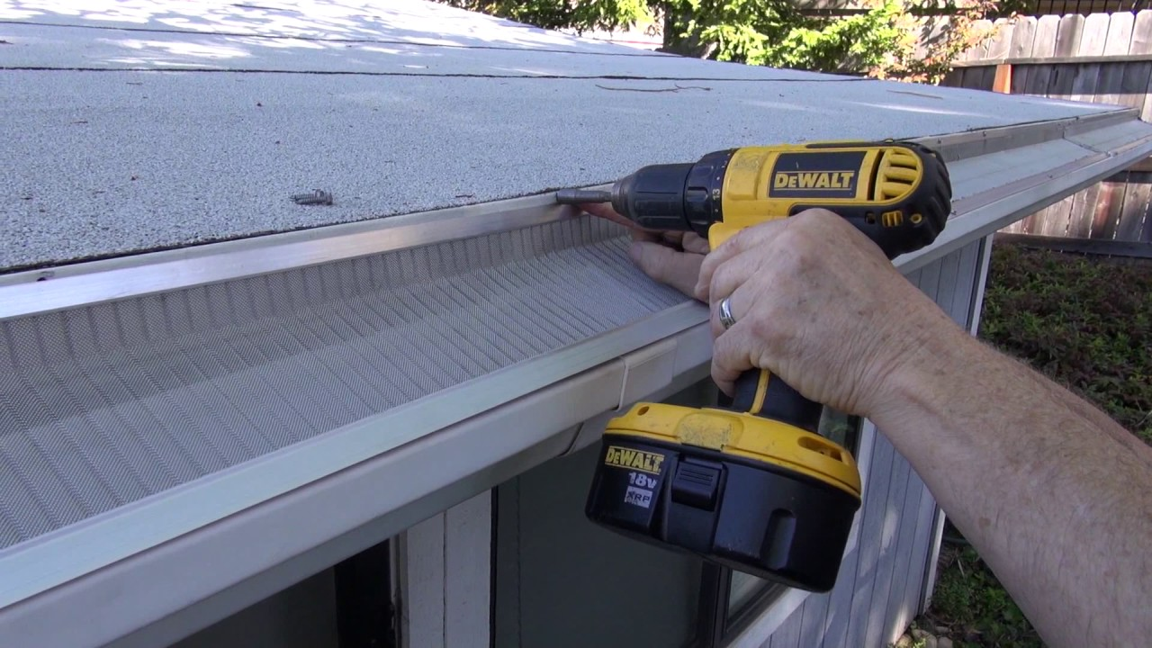 Installing Gutter Guards On A Flat Roof By Gutterglove