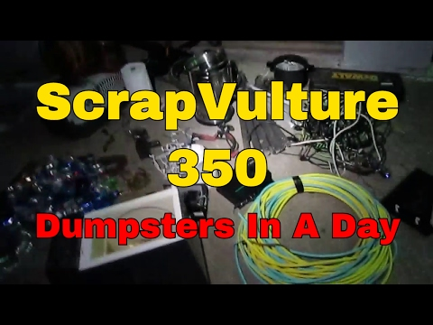 ScrapVulture 350 Dumpsters In ONE Day - Dumpster Diving Divers Scrap Metal Scrapping Scrappers Bike