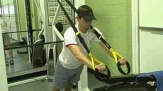 trx superset chest press to tricep extension