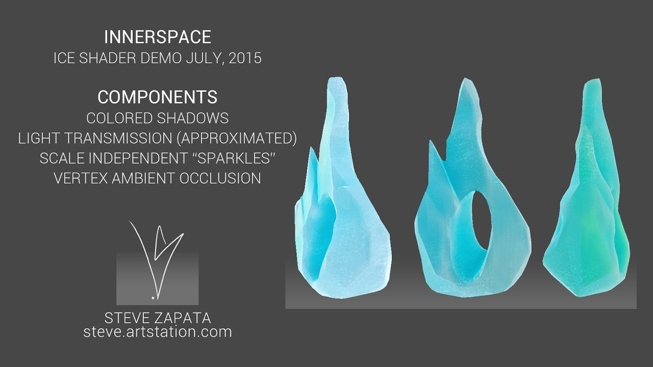 InnerSpace Ice Shader