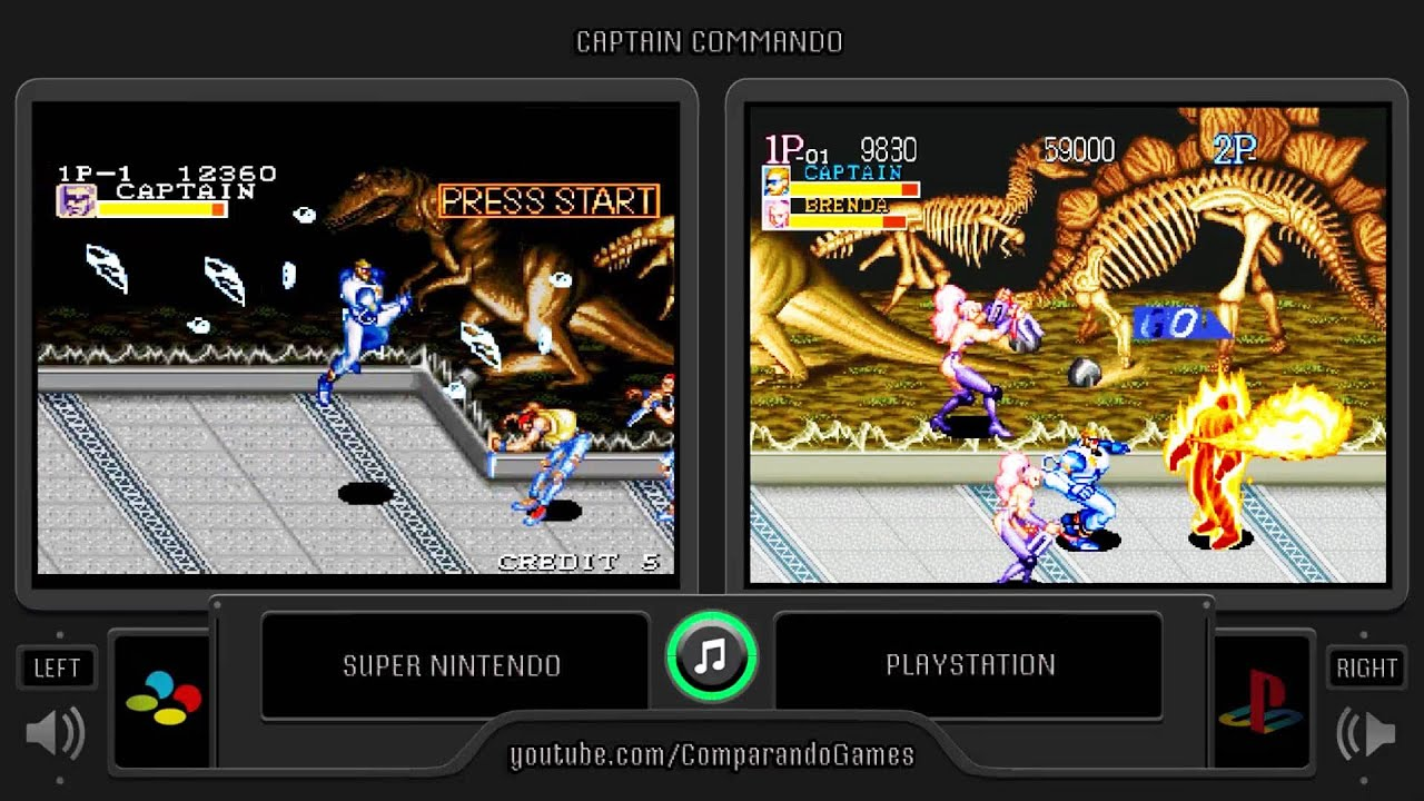 Dual Longplay 16 Captain Commando Snes Vs Playstation