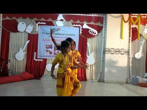 Dance on maa saraswati sharde by prantic kids
