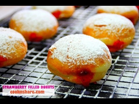 Strawberry Filled Donuts