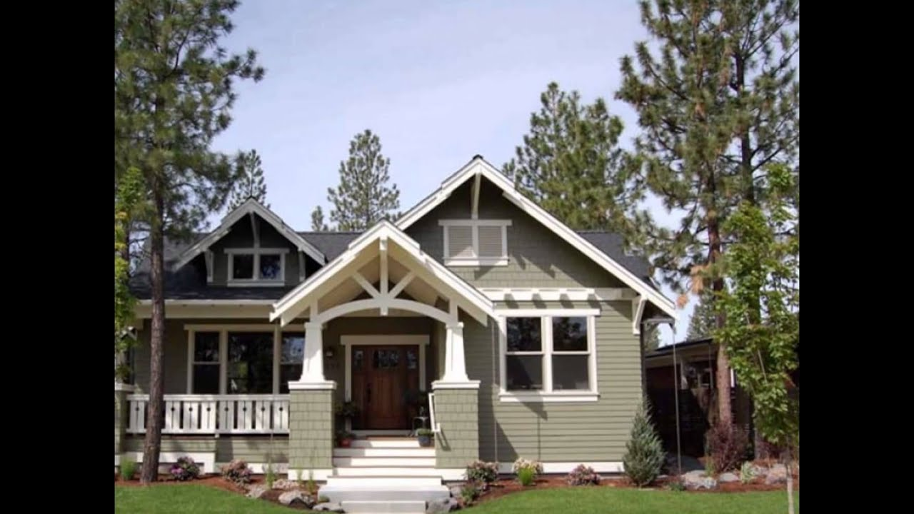 One Story Craftsman Style Home Plans