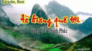 Hà Giang Quê Hương Tôi /Beat Karaoke Mèo D