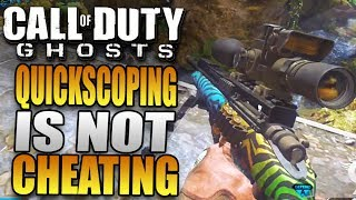 quickscoping cheating call of duty ghost quickscoping gameplay xbox one multiplayer gameplay