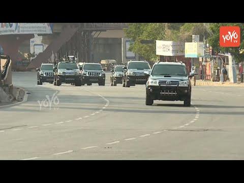 AP CM YS Jagan convoy In Hyderabad | Telangana News | YSRCP | CM KCR | YOYO TV Channel