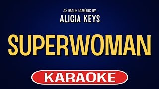 Superwoman Karaoke Version by Alicia Keys (Video with Lyrics)