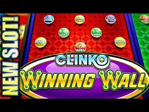 ★NEW SLOT! I TRIED!🤕★ CLINKO WINNING WALL (INCREDIBLE TECHNOLOGIES) Slot Machine Bonus