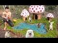 - Rescue Abandoned Puppies Building Mud House Dog And Fish Pond For Black Fish