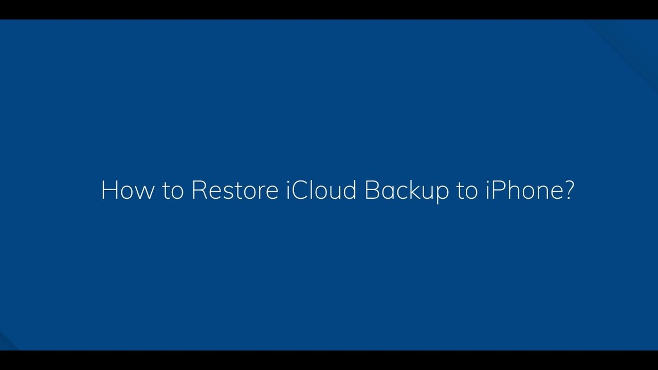how to restore icloud backup on iphone 8 plus