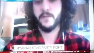 Troll pranks BBC news live on air during funny Ryanair interview!