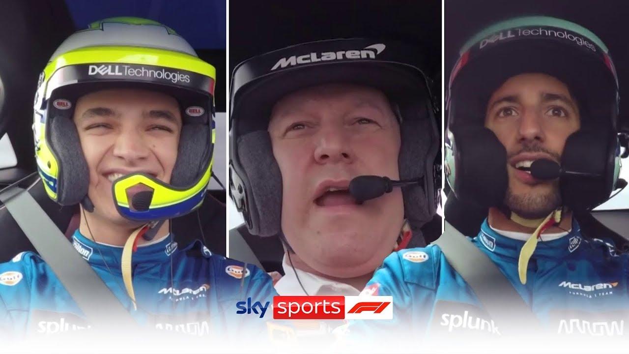 Download MUST WATCH! Norris and Ricciardo race Zak Brown around Silverstone! 🏎️