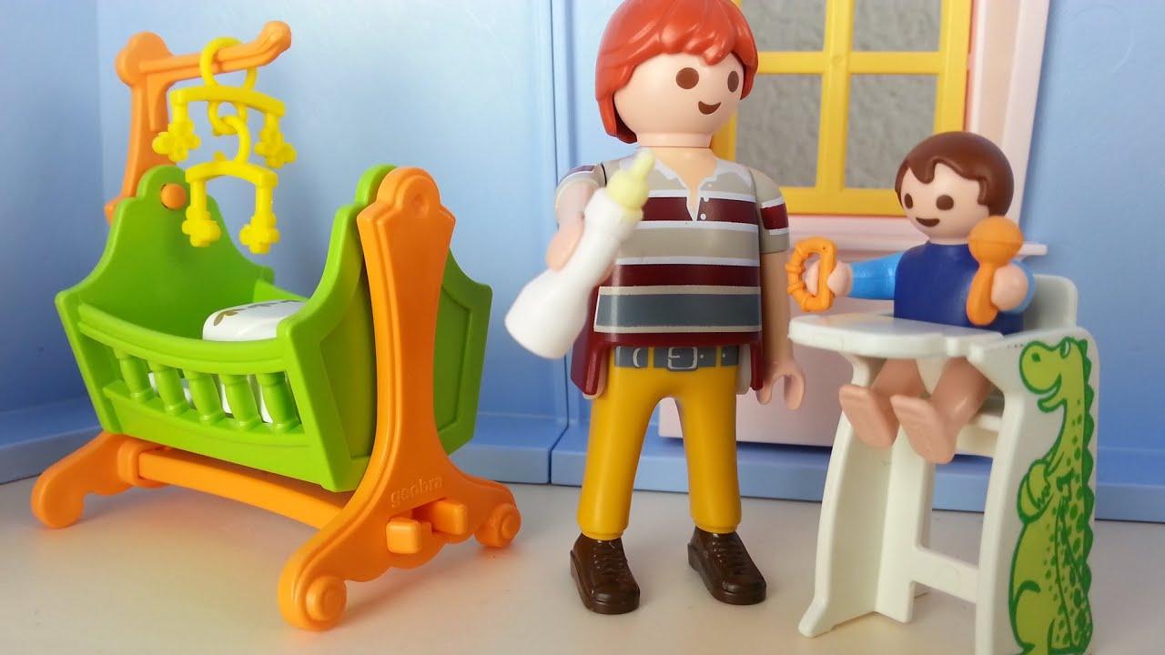 Babyzimmer mit Wiege 5304 für Playmobil Puppenhaus seratus1 ...