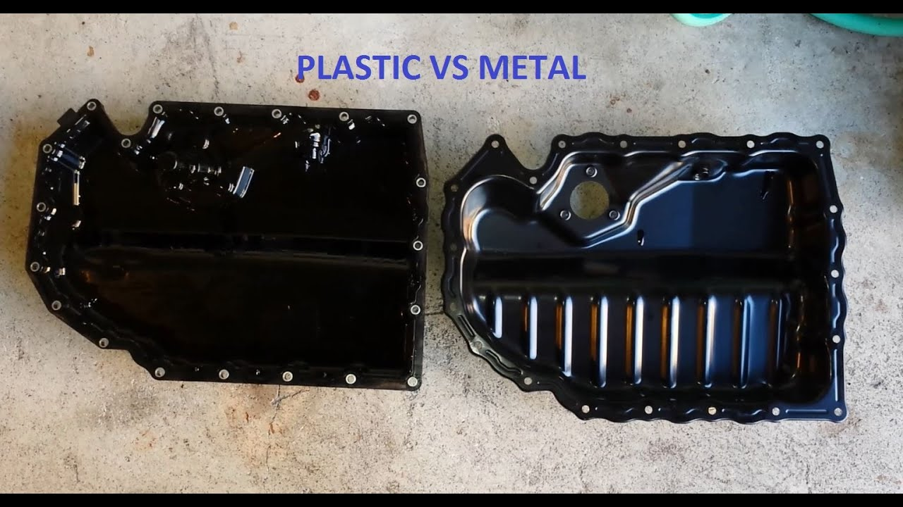 Plug In Cooler >> Installation: Plastic to Metal oil replacement oil pan for ...