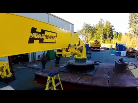 Hawboldt Industries - Marine Crane - Factory Acceptance Testing