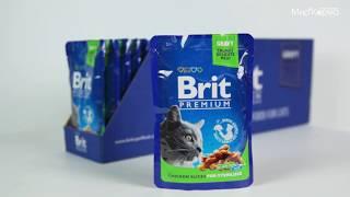 Влажный корм Brit Premium для стерилизованных кошек