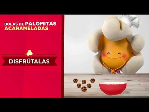 Bolas de Palomitas Acarameladas - Recetario de Palomino