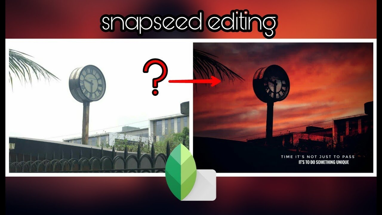 Beautify your pics in 2 minutes || Snapseed || editing tutorial