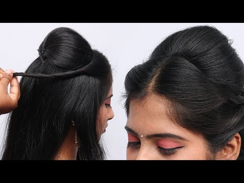 simple-&-easy-hairstyle-with-trick-|-wedding-hairstyles-|-puff-hairstyles-for-girls-hairstyles