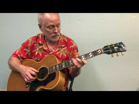 "Tom plays ""Bye Bye Love"" on a 1956 Gibson Guitar J-185 Natural"