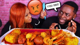 YOU TOO FAT PRANK ON QUEEN BEAST *GONE WRONG* SEAFOOD BOIL MUKBANG FT BEAST MODE