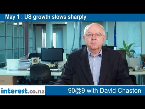 90 seconds @ 9am : US growth slows sharply