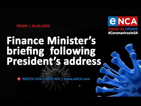 Finance Minister Tito Mboweni briefs media following President's address